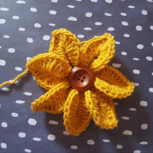 Crocodile Stitch Flower