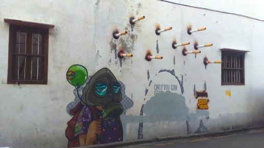 """""""Burning"""" by Cloak Work,Ah Quee Street, George Town"""