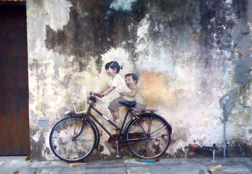 """Little Children on a Bicycle"", Armenian Street, George Town"